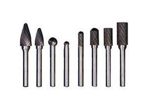 CARBIDE BURR SET 8PC FOR STEEL