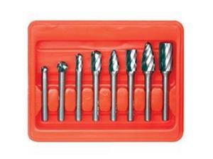CARBIDE BURR SET 8PC FOR ALUMINUM