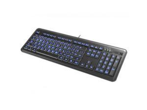 KBL200 Large Font Illuminated Keyboard