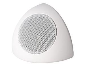 70V CORNER MOUNT SPEAKER       WITH 70V/25V TRANSFORMER (WHT)