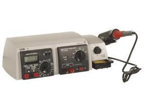 Soldering Station, Power Supply, and Digital Multimeter Combo