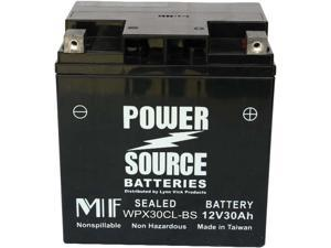 Power Source Battery WP30CL-BS (YB30CL-B Replacement) Sealed Battery - 1 Year Manufacturer Warranty!