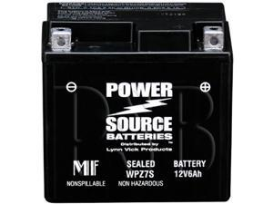 Power Source Battery WPZ7S (YTZ7S Replacement) Sealed Battery 01-322 - 1 Year Manufacturer Warranty!