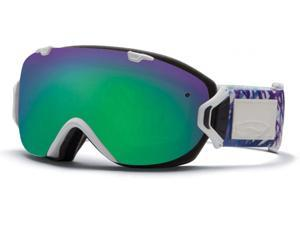 Smith Optics Vaporator Series I/OS Snow/Ski Goggles - White Tide with Green Sol-X Lens