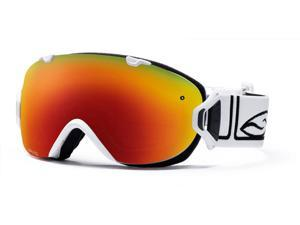 Smith Optics Vaporator Series I/OS Snow/Ski Goggles - White with Red Sol-X Lens