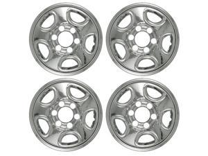 "Set of 4 16"" Chrome Wheel Skin Hubcap: Chevy (Astro '03 -'08, Silverado '99 -'04, Tahoe '99 -'06) GMC (Sierra) 16x6 Inch ..."