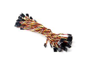 20pcs 2.54mm to 2.54mm Dupont Wire Cable Connectors 4P to 4P Pin Header 20cm For Arduino