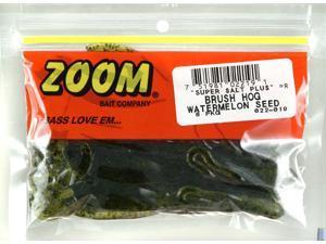 Zoom Soft Plastic Fishing Bait 022-019 Super Salt+ Brush Hog Watermelon Seed