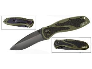 Kershaw Blur Folding Knife Olive Drab Black Blade