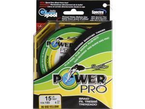 PowerPro Braided Spectra Fiber Line  Hi-Vis Yellow, 15 lbs., 150 yds.