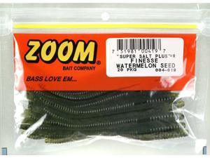 Zoom 004-019 Slt+Finesse 20 PK Watermelon Seed Bass Fishing Soft Plastic