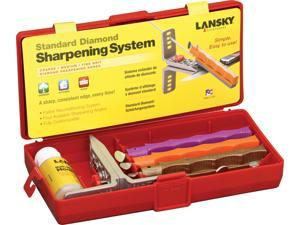 Lansky LS51 Set Standard Diamond Sharpening System W/ Coarse Medium & Fine Gri