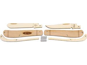 Case CA207W Knives Folder Knife Wooden Knife Kit Mini Trapper Clip & Spey Blades