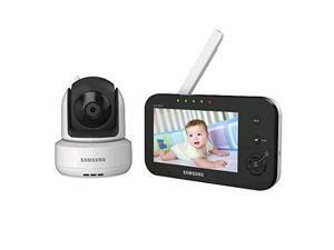 Refurbished: Samsung SEW-3041W Brilliant View Baby Monitoring System IR Night Vision PTZ, White, 4.3In.