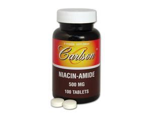 Niacinamide 500mg - Carlson Laboratories - 100 - Tablet