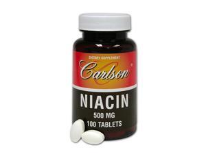 Niacin 500mg - Carlson Laboratories - 100 - Tablet