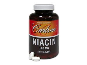 Niacin 500mg - Carlson Laboratories - 250 - Tablet