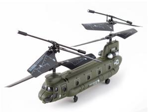Syma S026G (GYRO) SBA Micro Chinook Indoor Ready to Fly RC Remote Control Cargo 3 Channel Transport Helicopter