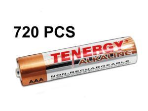 720 pcs Tenergy AAA Size (LR03) Alkaline Batteries