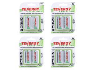 Combo: 4 x Cards: Centura (2pcs) 9V LSD NiMH Rechargeable Batteries