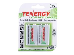 Tenergy Centura NiMH 9V 200mAh Low Self Discharge Rechargeable Batteries