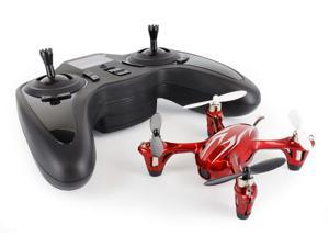 Hubsan X4 (H107C) 4 Channel 2.4GHz RC Quad Copter with Camera - Red/Silver