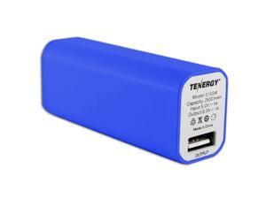 "Tenergy 2600mAh ""Lipstick"" Portable Power Bank With LED Battery Indicator"