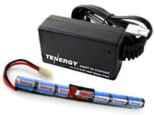 Combo: Tenergy 8.4V 1600mAh Stick Mini NiMH Airsoft Battery Pack+ 8.4V-9.6V NiMH Smart Charger