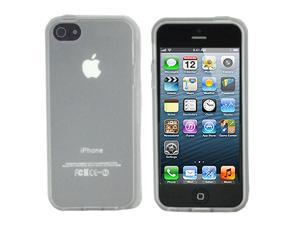 ASleek Clear  TPU Frost Rubber Case Cover for Apple iPhone 5