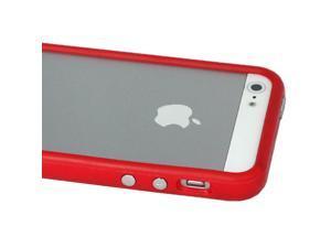 ASleek Red TPU Premium Bumper Case for Apple iPhone 5 5G