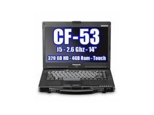 PANASONIC TOUGHBOOK CF-53 INTEL CORE I5 2.6GHZ 320GB HDD, 4GB Ram, Windows 7 Pro, TOUCH LCD