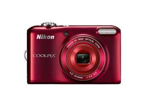 Nikon Coolpix L28 20MP 720p HD Video Compact Digital Camera (Red)