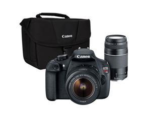 Canon EOS Rebel T5 2 - Lens Kit 18MP DSLR w / 18-55mm and 75-300mm Lenses