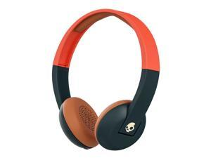 Skullcandy Uproar Bt Explore Evergreen/Orange Bluetooth Headphones (S5URHW-510)