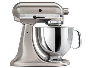 Kitchenaid Rksm150psnk All Metal Exterior Brushed Nickel Tilt Artisan Stand Mixer RK150NK (Refurbished)