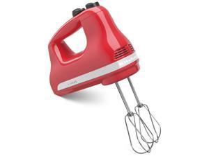 New MADE in USA Kitchenaid 5-Speed Ultra Power Hand Mixer khm512wm Watermelon Red