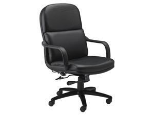 Tall Leather Executive Chair in Black
