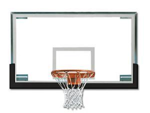 Basketball Backboard/Rim/Net - Collegiate Regulation SuperGlass Pkg. (Gray)