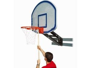 Basketball System - Wall-Mount Adjustable Height w Graphite Backboard