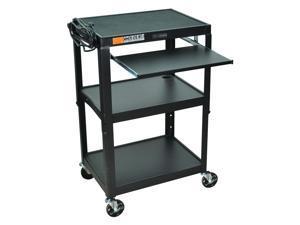 Adjustable AV Cart w Pullout Keyboard Tray (Royal Blue)