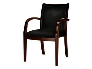 35.5 in. Upholstered Arm Chair (Espresso)