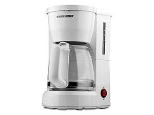 Black and Decker 5-Cup White Coffeemaker w Lighted On Off Switch