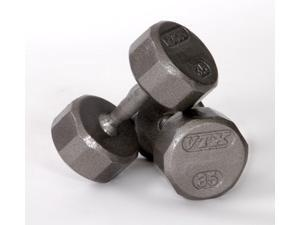 VTX 12-Sided Cast Dumbbells - (11 in. Dia x 12 in. H (35 lbs.))