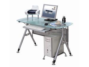 All-in-One Computer Desk w Clear Glass Top