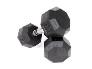 VTX Rubber Encased Octagonal Dumbbells (14 in. Dia x 12 in. H (65 lbs.))