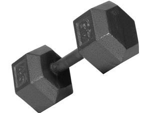 USA Sports Iron Hex Dumbbell (7 in. Dia x 12 in. H (5 lbs.))