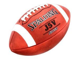 Spalding J5V Silver Pro Football in Full Grain Horween Leather