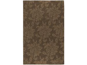 Mystique M-174 Brown Wool Rug w Botanical Design (2 ft. 6 in. x 8 ft. Runner)