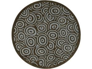 Artist Studio Contemporary 8 Ft Round Wool Rug - ART-81