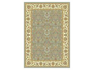 "Lyndhurst Floral Border Rug in Light Blue & Ivory (5'-3"" ft. Round)"